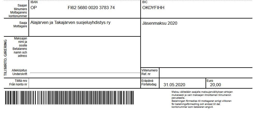 Jäsenmaksu2020